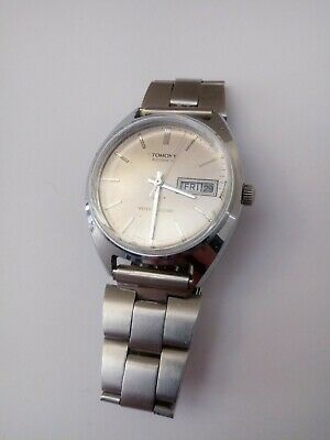 $ CDN25.52 • Buy Vintage Tomony By Seiko Day-Date Automatic Men's Watch