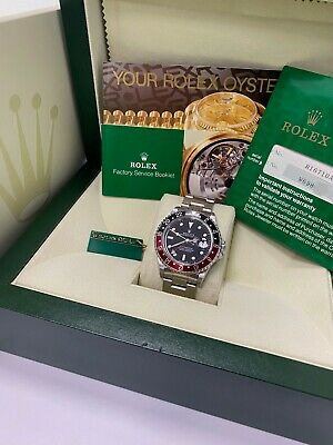 $ CDN16399.69 • Buy Rolex GMT Master II 16710 Coke Red And Black Stainless Steel Box Papers