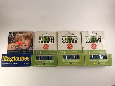 $5 • Buy Vintage GE Super Flash Cubes 3 Boxes Of 3 & One Box Of 3  GE Magicubes