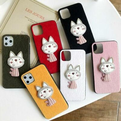 AU12.19 • Buy For IPhone 11 Pro Max X XR Xs 7 8 Plus Girl Cute Fluffy Cat Pattern Case Cover