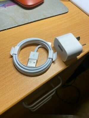 AU24.95 • Buy IPhone Genuine Lighting Cable And Wall Charger