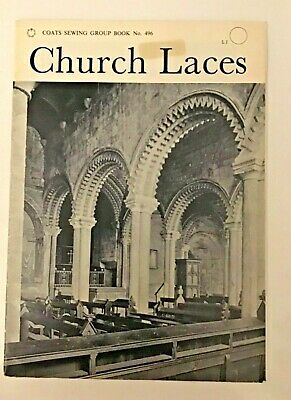 Lace Making Pattern Booklet Church Laces. Coats Sewing Group Vintage  • 14.99£