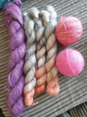Hand Dyed Laceweight Mohair Yarn Bundle  • 23£
