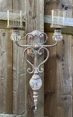 £29.99 • Buy Wall Mounted Candelabra Candle Holder French Style Shabby Chic ( Pick Up Only )