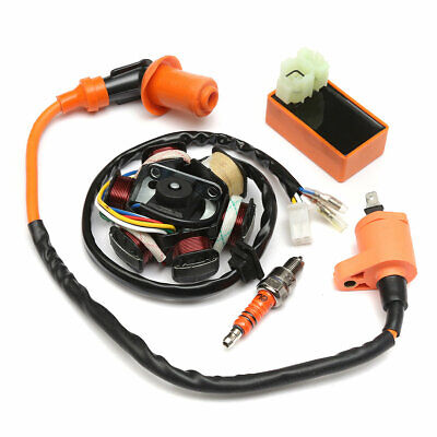 $28.32 • Buy 49cc 50cc GY6 Scooter Racing Ignition Coil CDI Spark Plug Moped Magneto Stator