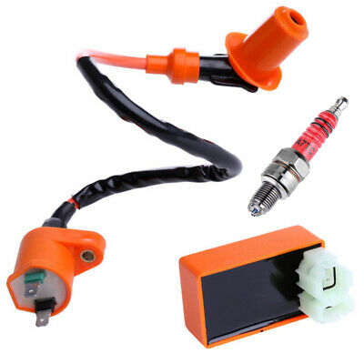$12.22 • Buy Racing CDI+ Ignition Coil + Spark Plug For GY6 50cc 125cc 150cc 4-stroke Scooter