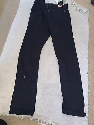Next Boys Navy Age 13 Skinny Twist Chino Trouser Adjustable Waist • 7.50£