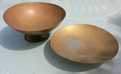 Pair Of Vintage Engraved Brass Bowls • 6.49£