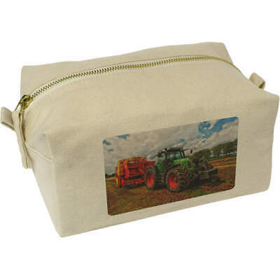 AU22.99 • Buy 'Tractor' Canvas Wash Bag / Makeup Case (CS00003260)