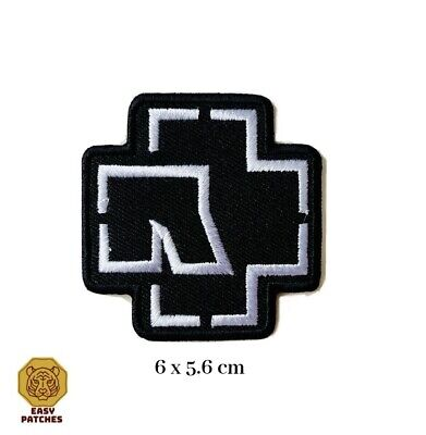 £1.99 • Buy RAMMSTEIN WHITE Embroidered Iron On Sew On Patch Heavy Rock Band