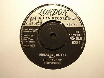 45rpm......The Ramrods........Riders In The Sky.......60s Beat.... • 0.99£