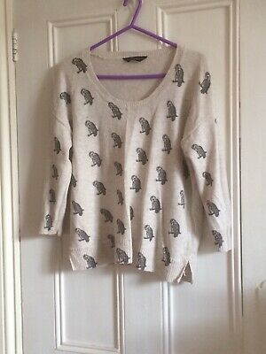 Dorothy Perkins Jumper Owl Cream 14 • 5£