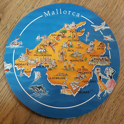 Postcard Map - A Round Mallorca Spain Map Postcard • 0.99£