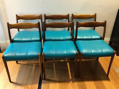 AU1500 • Buy Mid Century FLER 64' Dining Chairs By Fred Lowen. Set Of Six.