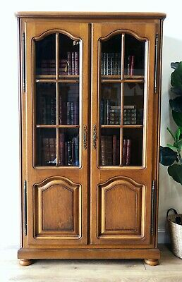 AU785 • Buy Vintage French Oak Bookcase Library Display Cabinet - TT010