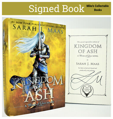 $65 • Buy Sarah J Maas SIGNED / AUTOGRAPHED BOOK  Kingdom Of Ash (Queen Of Shadows)
