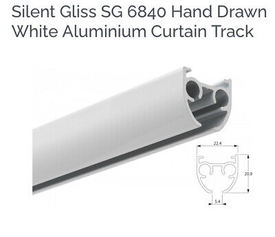 Silent Gliss Curtain Track 250cm Hand Drawn Ceiling  £100 New 1 Year Of Use Only • 40£
