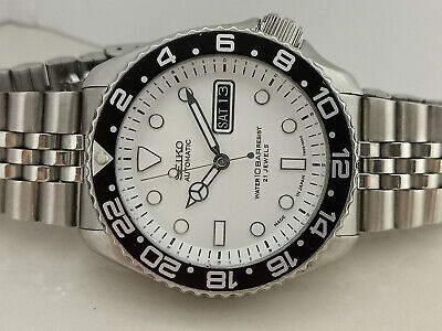 $ CDN276.59 • Buy Seiko Diver Submariner White Mod 7s26-0020 Skx007 Automatic Men Watch 000858