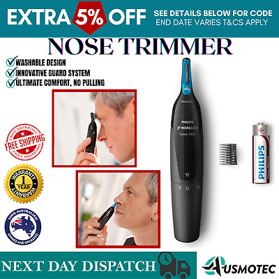 AU23.61 • Buy Philips Mens Nose Ear Eyebrow Hair Shaver Battery Portable Cordless Grooming