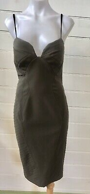 AU15 • Buy Sheike Cupid Khaki Green Fitted Bustier Dress Size 8