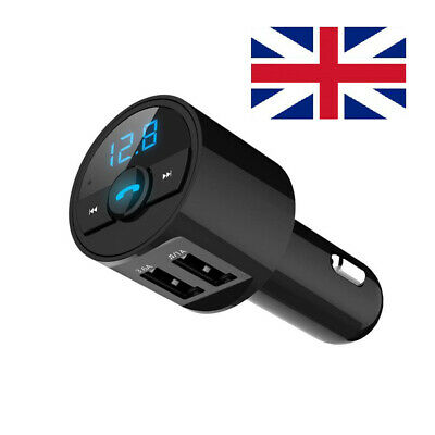 Bluetooth 5.0 Wireless Handsfree Car FM Transmitter MP3 Player 2 USB Charger Kit • 7.63£
