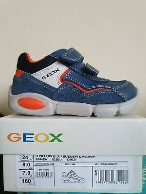 Geox Boys Trainers Size 7 24. Brand New In Box • 23£