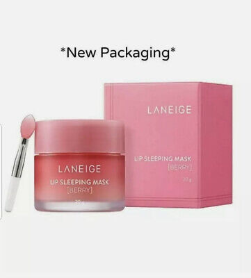 NEW LANEIGE SLEEPING MASK BERRY- 20g - 2020 Edition LIP BALM   TRACKING DELIVERY • 10.50£