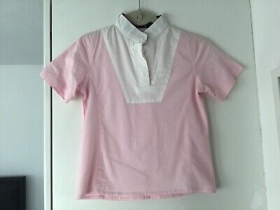Tagg Equestrian Show Jumping Shirt Pink With White Collar Front Size S • 4.50£