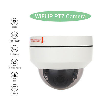 HD 1080P WiFi Wireless Smart IP Dome Camera,Security 3xZoom Network,Night Vision • 76.29£