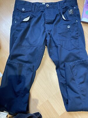 Mens Navy Blue Crosshatch Chino Style Jeans 34R • 1.20£