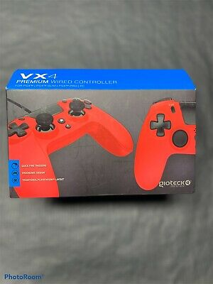Gioteck Vx4 Ps4 Wired Controller In Red.  • 10£