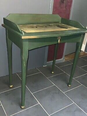 Upcycled Vintage Console/hall/small Table / Desk Dark Green • 26£