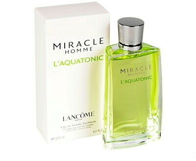 LANCOME MIRACLE HOMME L'AQUATONIC Eau De Toilette 125 Ml Sealed Vintage 2003 • 59.90£