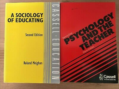 £3 • Buy A Sociology Of Educating By Roland Meighan And Psychology And The Teacher By Den