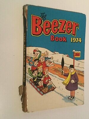 The BEEZER Book 1974 Annual  Cover Damage But Clean Inside. • 0.99£