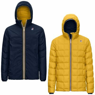 AU477.06 • Buy K-WAY Mens Quilted Jacket Reversible Art. K111BEW Mod. Jacques Thermo PLUS.2