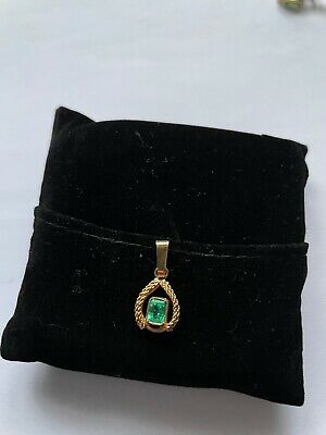 Pendant, 18 Kt, With Genuine Colombian Natural Emerald • 149.99£