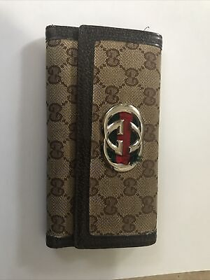 """$26 • Buy Gucci Vintage Wallet """"Grandma's Relic Used"""" Woman Classic Museum Quality"""