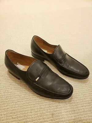 Russell And Bromley Moreschi Black Leather Loafers Shoes RRP £450 Mens 8 1/2 • 40£
