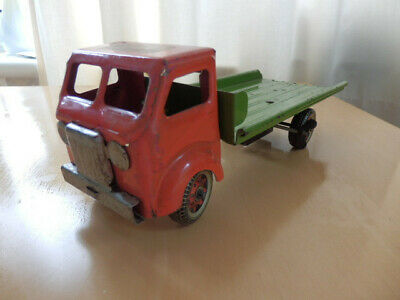 Vintage Mettoy 1950 Pressed Steel Flatbed Truck With Motor. • 32£