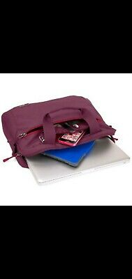 Medium Shoulder Bag For Laptop / Tablet Up To 15  Dark Red • 9£