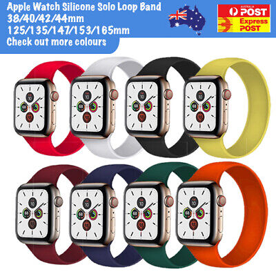 AU7.14 • Buy For Apple Watch Series 1-6 Silicone Sports Elastic Solo Loop Band 38/42/40/44/mm