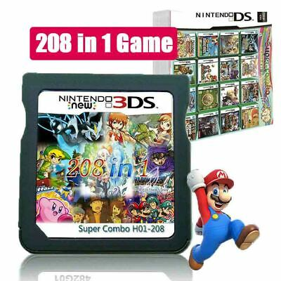 AU28.99 • Buy 208 In 1 Game Card Cartridge Multicart For Nintendo DS NDS NDSL NDSi 2DS 3DS