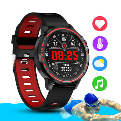 AU54.59 • Buy L8 Smart Watch Bluetooth Heart Rate Monitor Waterproof For Android IOS