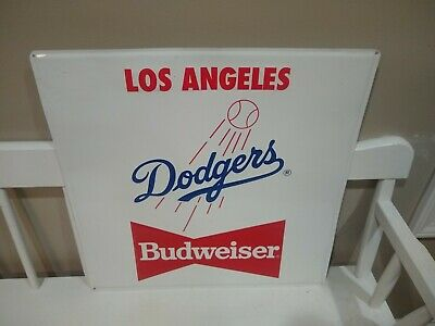 $ CDN190.75 • Buy Los Angeles Dodgers Budweiser Baseball Mlb Metal Tin Stout Sign Co