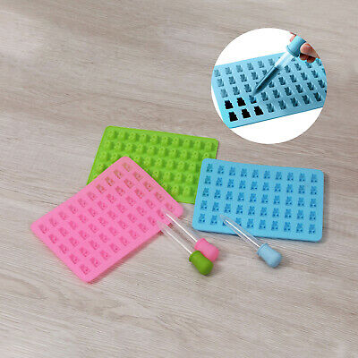 £5.29 • Buy 3pc 50 Cavity Silicone Gummy Bear Mould Chocolate Mold Sweet Jelly Ice Cube Tray