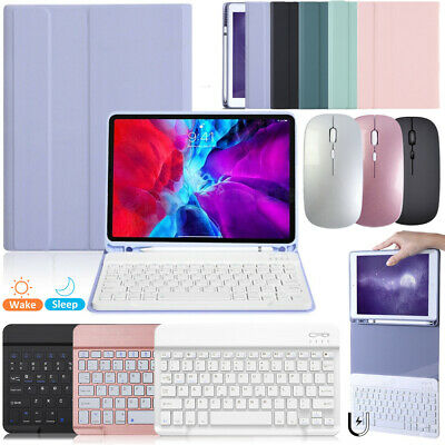 AU23.99 • Buy IPad 10.2 7th 8th Air 4th Gen Bluetooth Mouse Keyboard Cover Case W/ Pen Holder