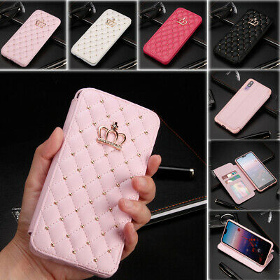 £7.99 • Buy Bling Diamond Case PU Leather Stand Card Slot Cover For Huawei P20 P30 Pro Lite
