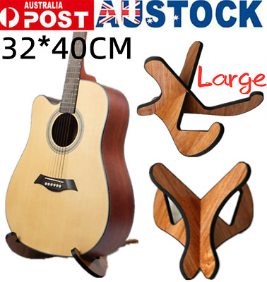 AU24.51 • Buy Universal Large Guitar Stand Shelf Wooden X-Frame Sturdy Instrument Stand Holder