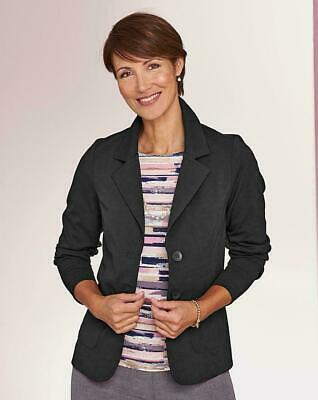 Simply Be Ladies Womens Stylish Formal Black Double Button Jersey Jacket Blazer • 17.95£